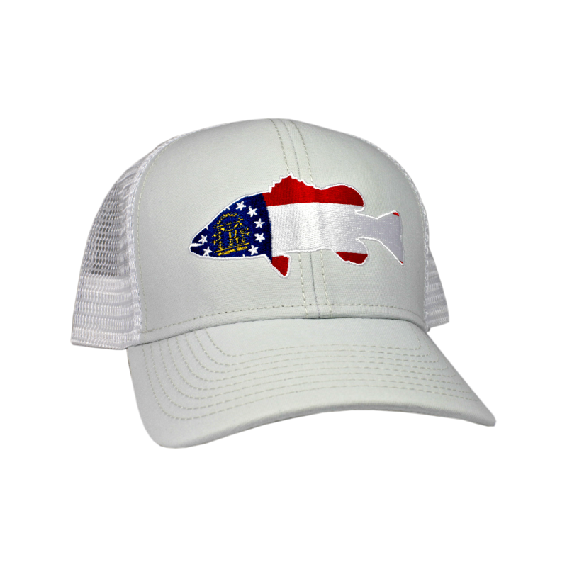 Peach State Pride Largemouth Bass Ice Trucker Hat