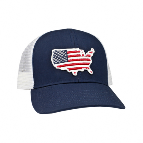 Peach State Pride 'USA Mesh Back' Trucker Hat- Navy