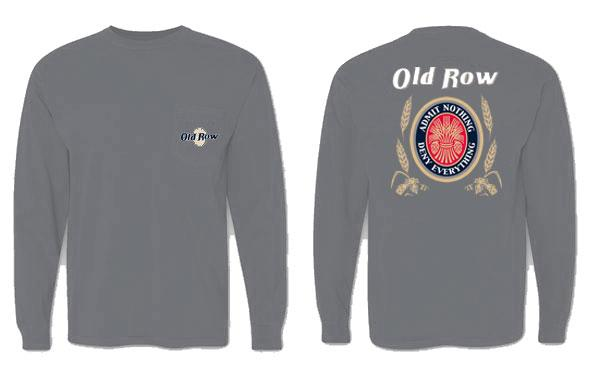 old row retro can grey long sleeve t shirt