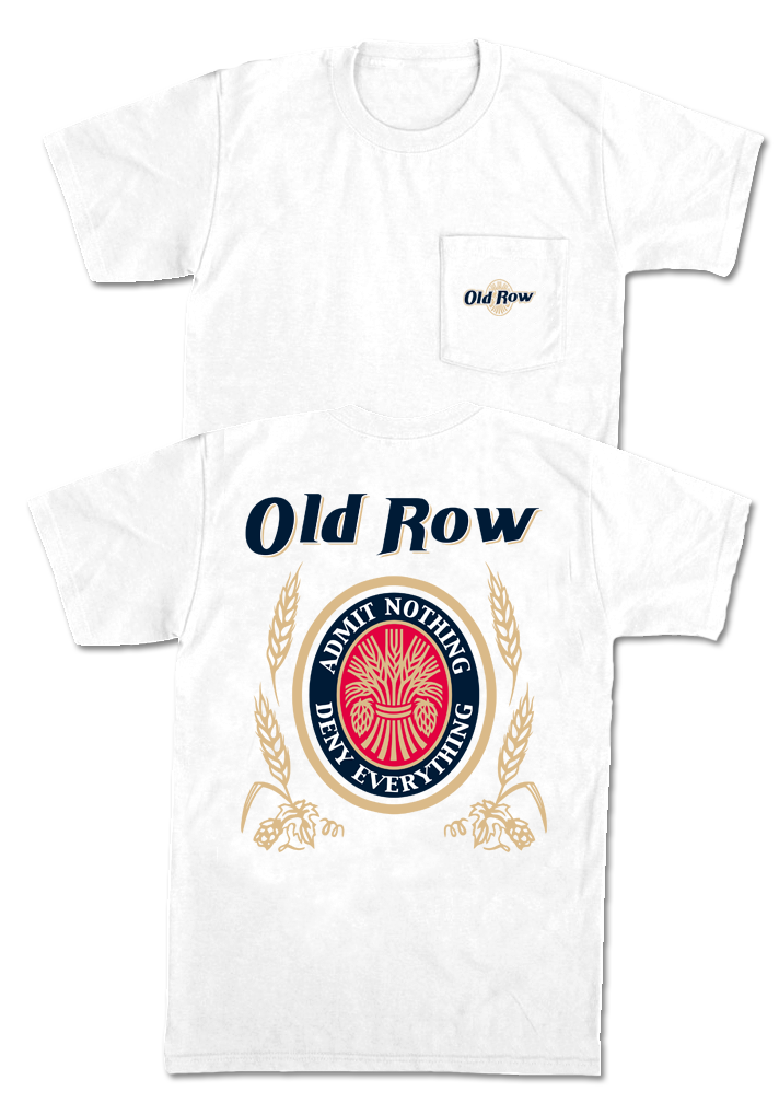Old Row 'Retro Can' Short Sleeve - White