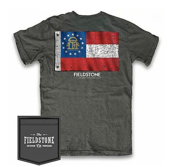 fieldstone outdoors youth georgia flag tshirt