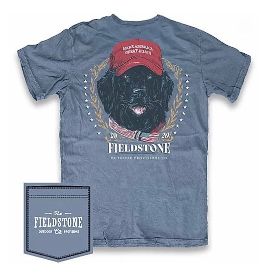fieldstone outdoors make america great again tshirt