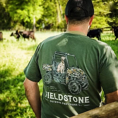 fieldstone outdoors mens retriever atv tshirt