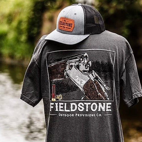 fieldstone outdoors leather patch trucker hat
