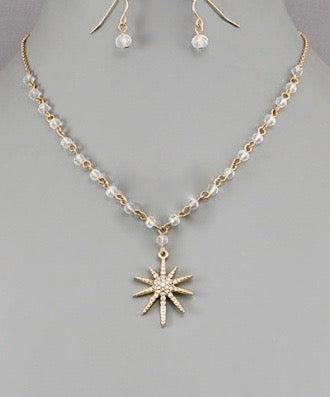 paved starburst necklace