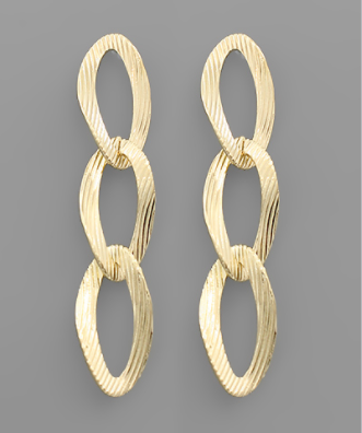 oval dangle gold earrings
