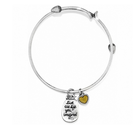 Brighton Art and Soul 'Imagine' Bangle- Silver/Brushed Gold