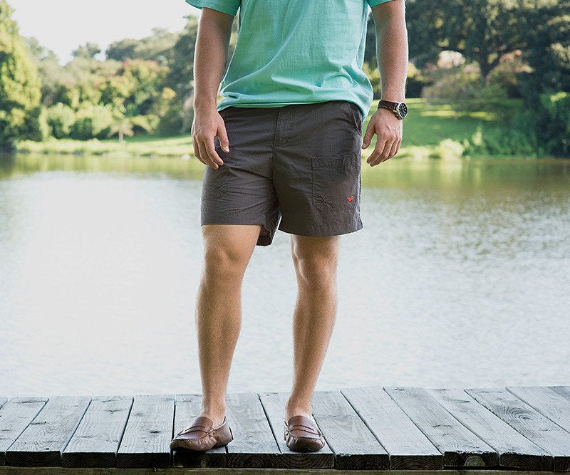 Southern Marsh 'Tarpon Flats' Fishing Shorts- Burnt Taupe