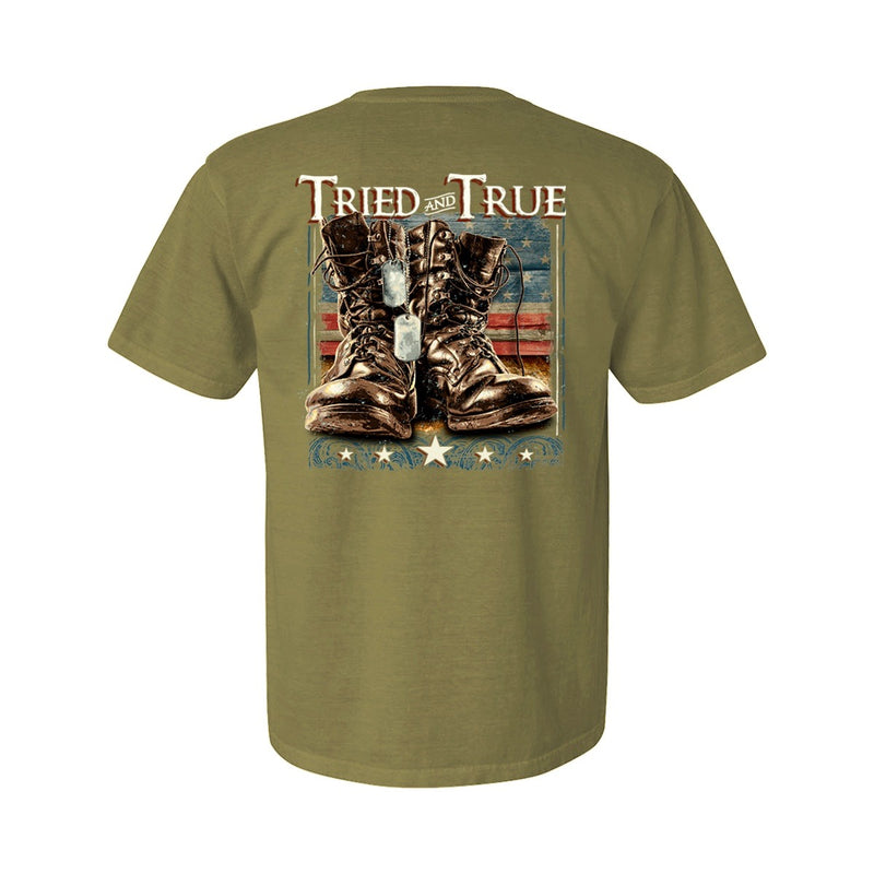 tried and true military boots t shirt