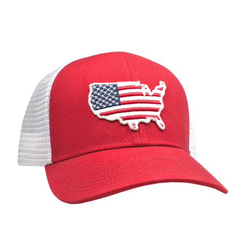 Peach State Pride 'USA' Mesh Back Hat - Red