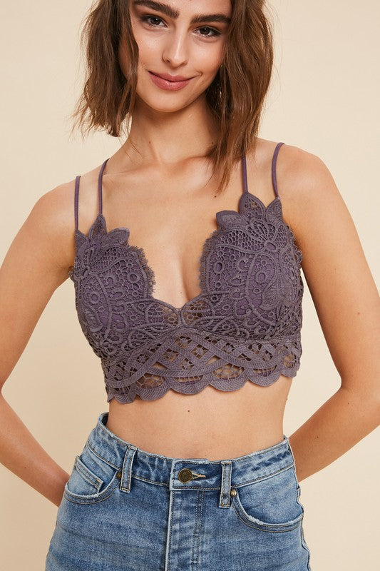 Lovely Lace Bralette - Midnight
