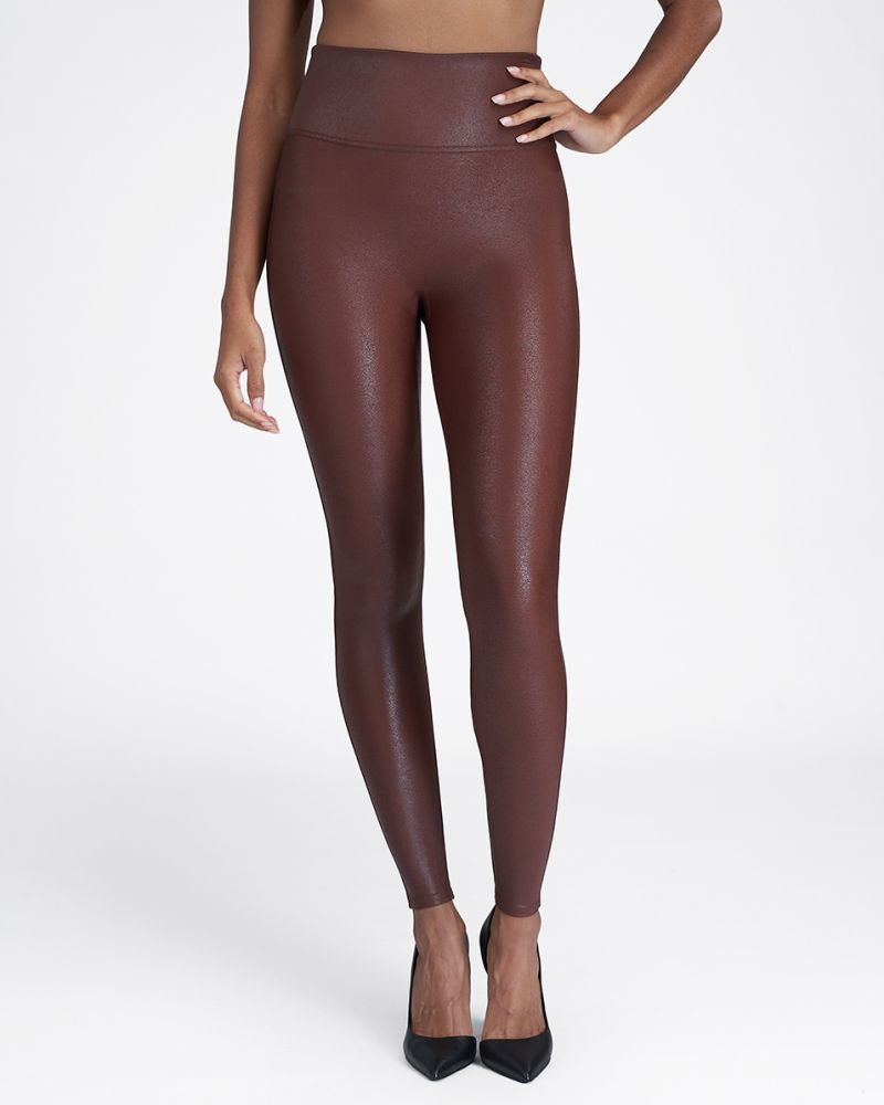 Spanx Faux Leather Leggings - Rich Olive