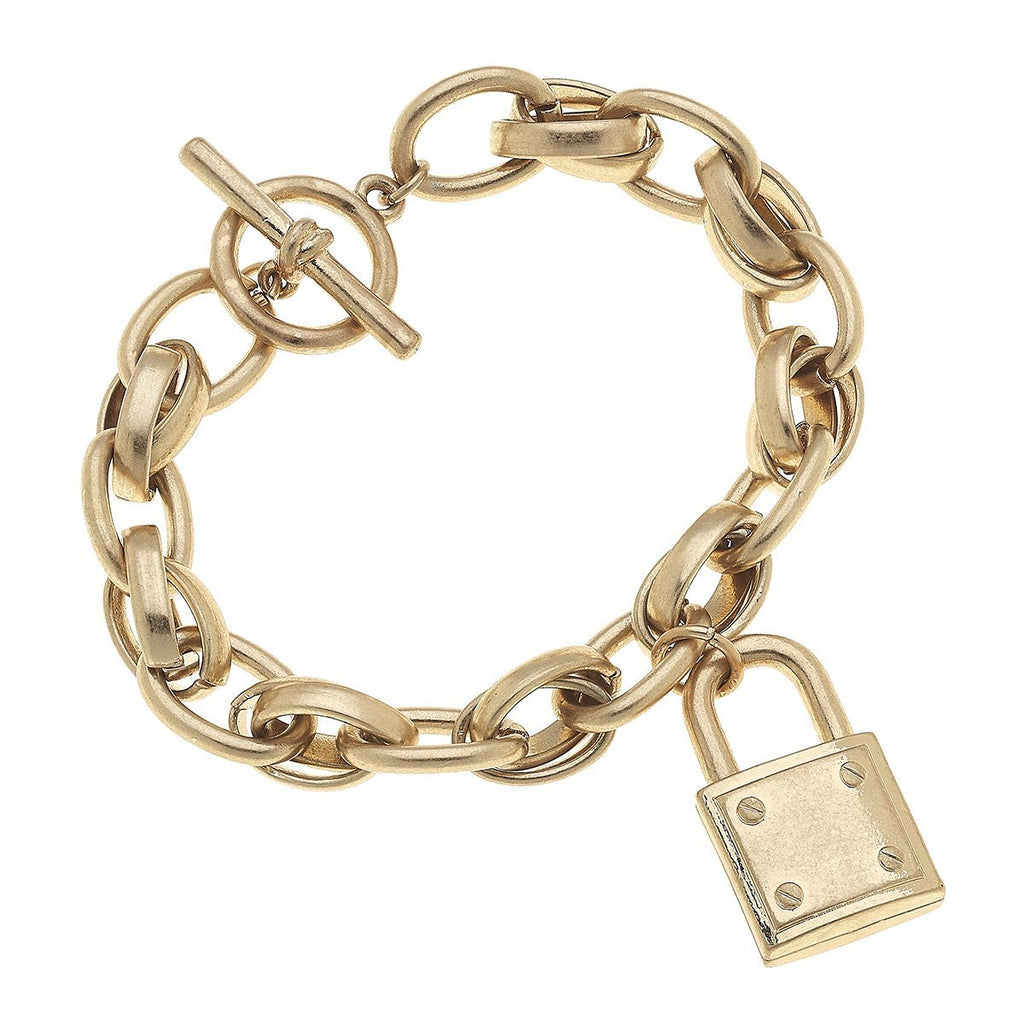 canvas jewelry padlock chain bracelet