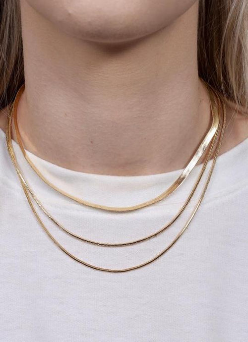 herringbone layered necklace