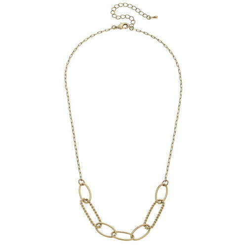 canvas amanda chain link necklace