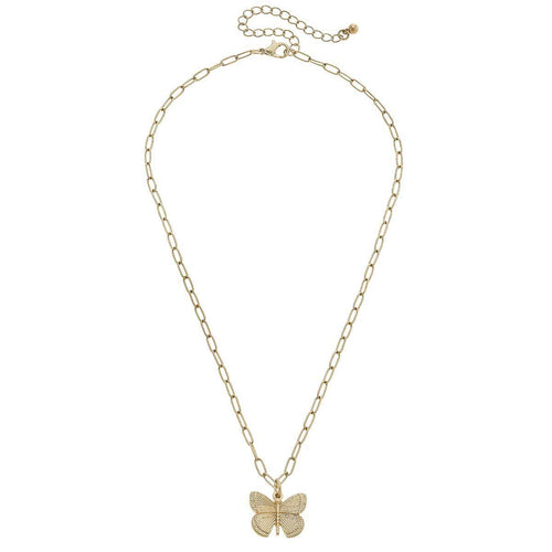 canvas celeste butterfly necklace