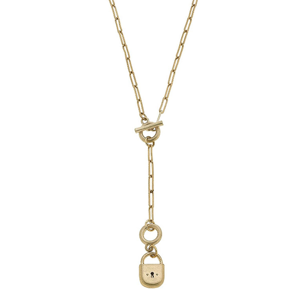 canvas skylar padlock chain necklace