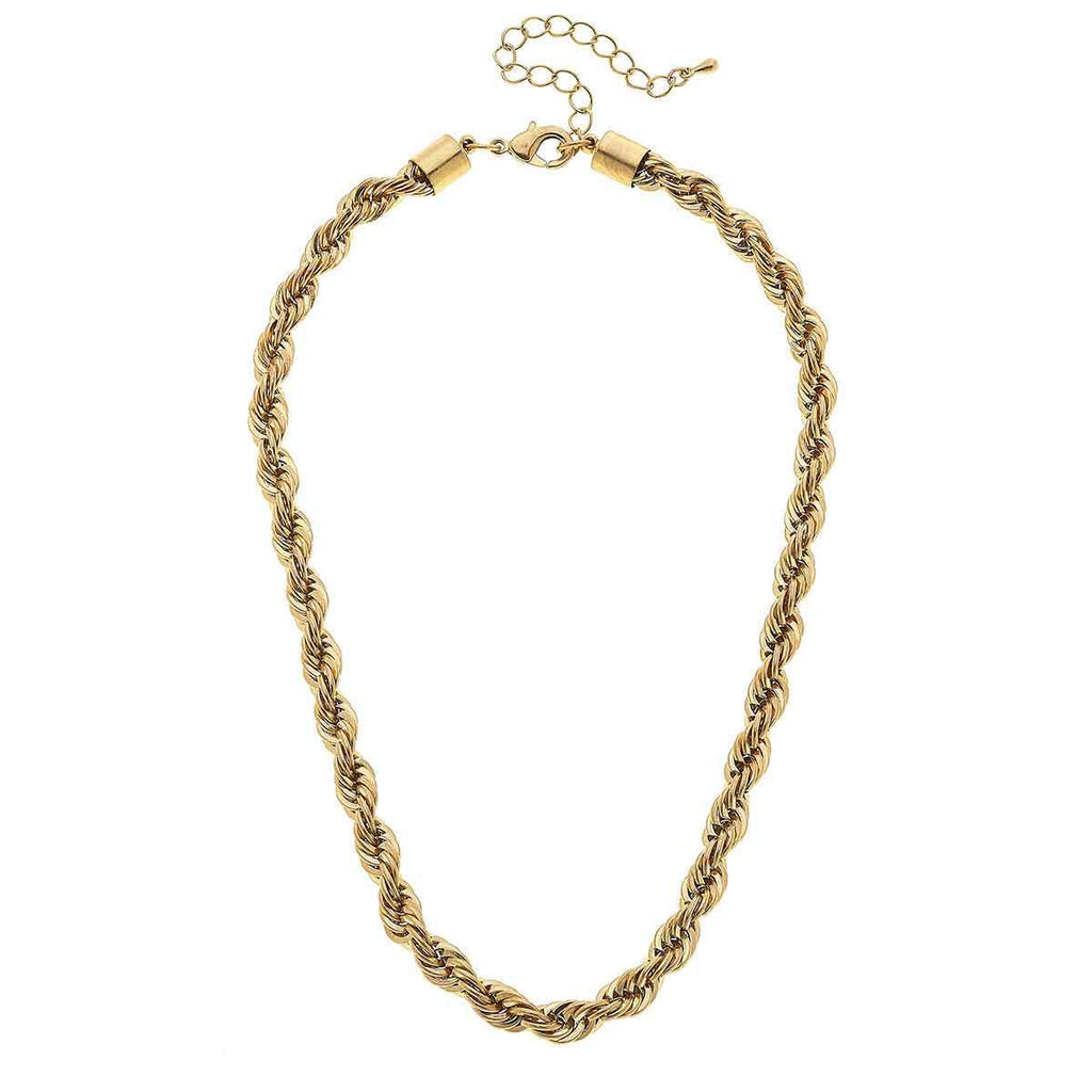 canvas mason rope chain necklace