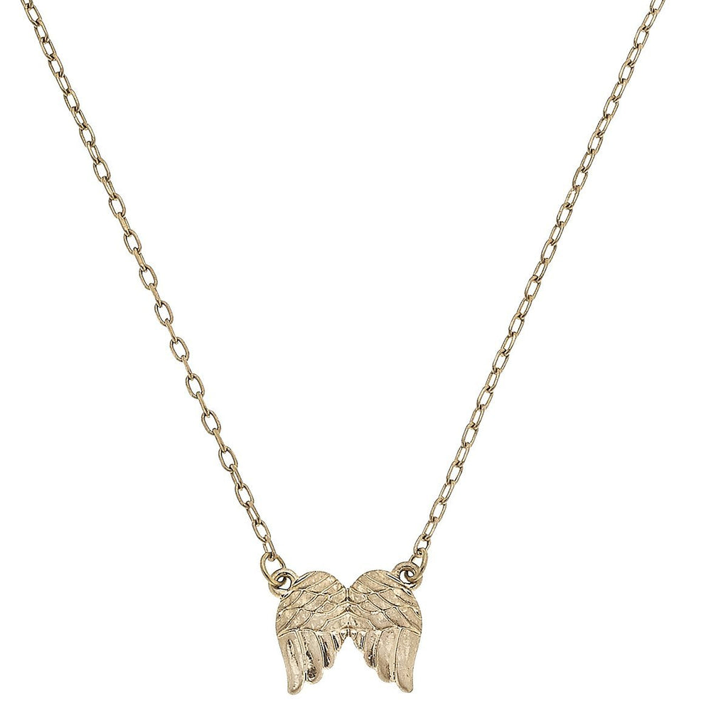 canvas wings necklace