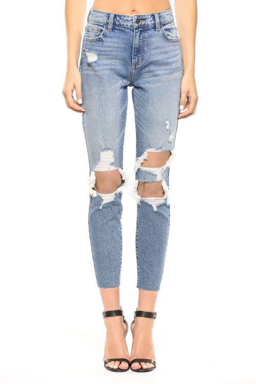 cello jeans high rise mom skinny jean