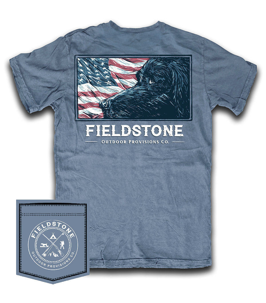 fieldstone outdoors lab flag youth t shirt