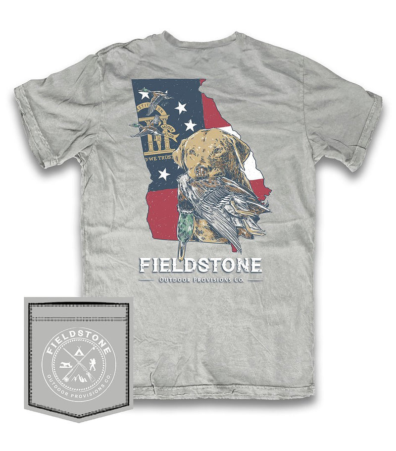 fieldstone outdoors georgia bird dog t shirt