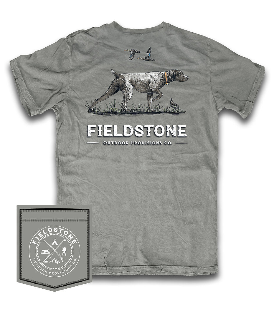 fieldstone outdoors pointer t shirt