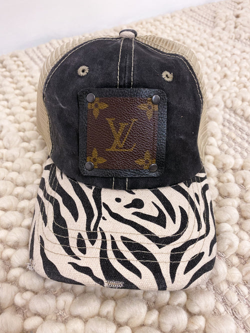 recycled lv zebra hat