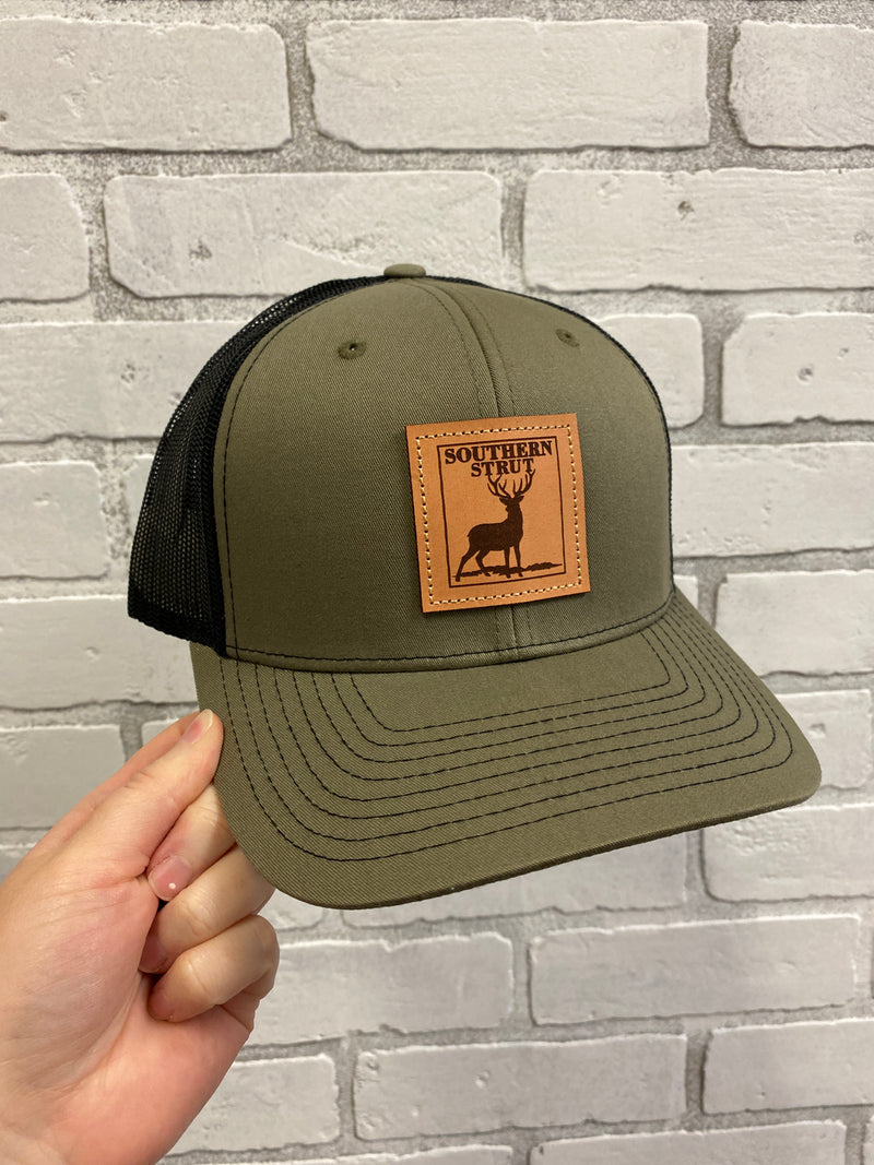 Southern Strut Deer Leather Patch Loden Hat