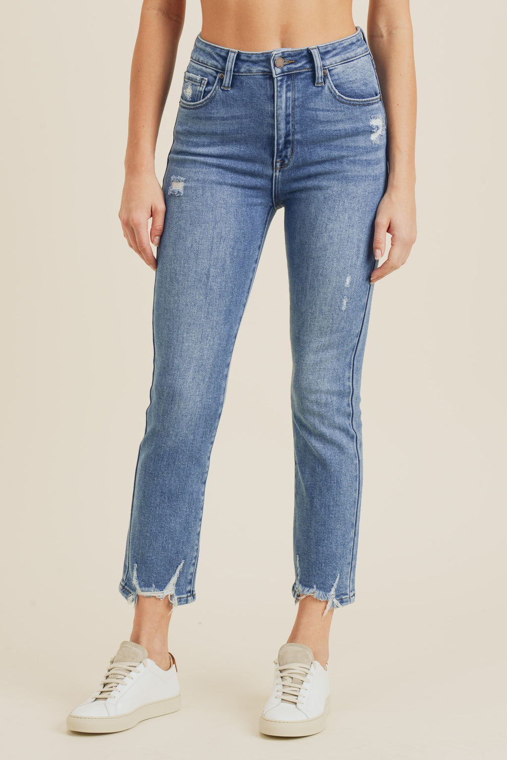 just black denim high rise straight leg jeans