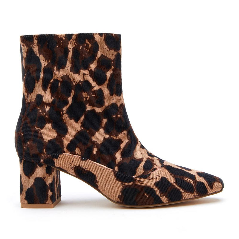 Matisse 'Ramble' Booties - Tan Leopard