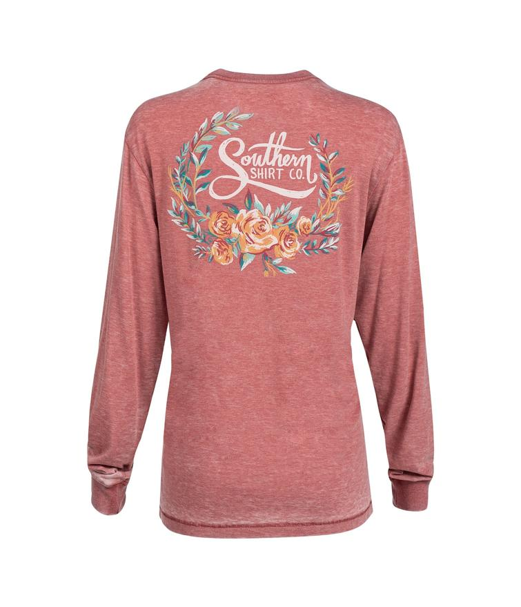 Southern Shirt Co. 'Forest Florals' Long Sleeve - Faded Rose