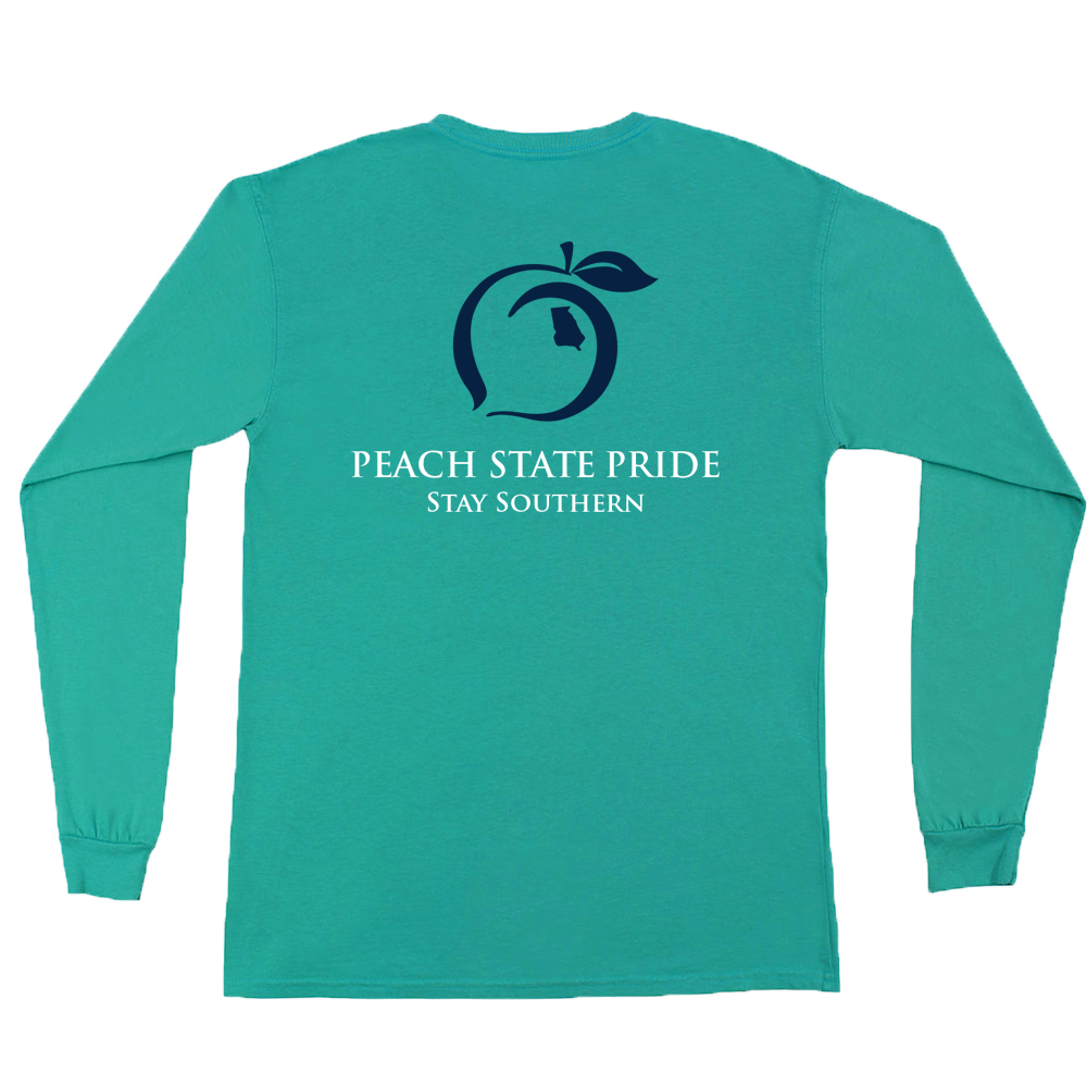 Peach State Pride Youth 'Classic Stay Southern' Long Sleeve - Seafoam
