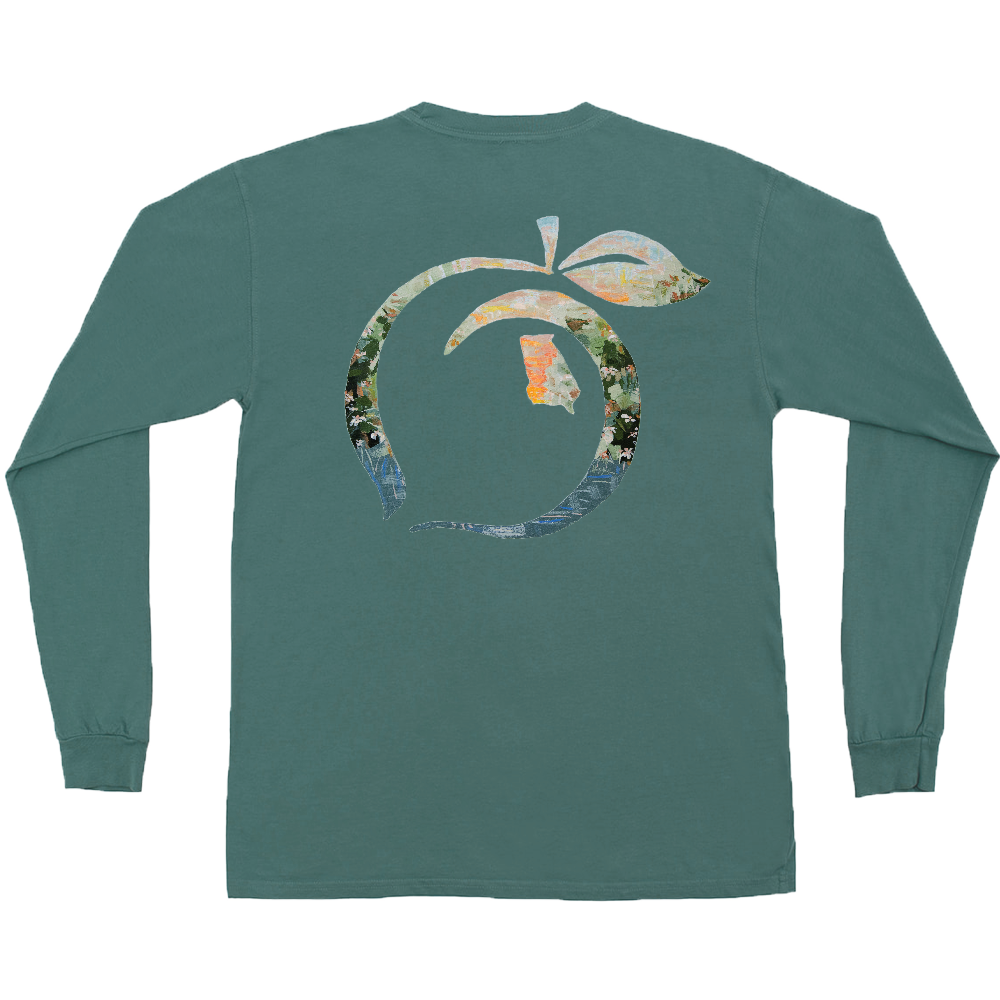 Peach State Pride 'Harvest Peach' Long Sleeve - Emerald