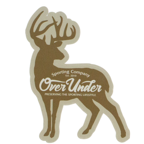 Over Under 'Whitetail Silhouette' Sticker