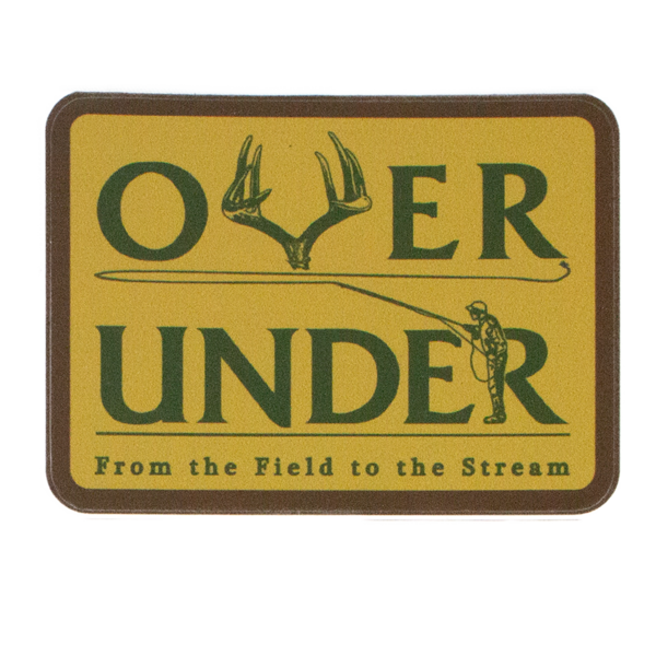 Over Under 'Field To Stream' Sticker