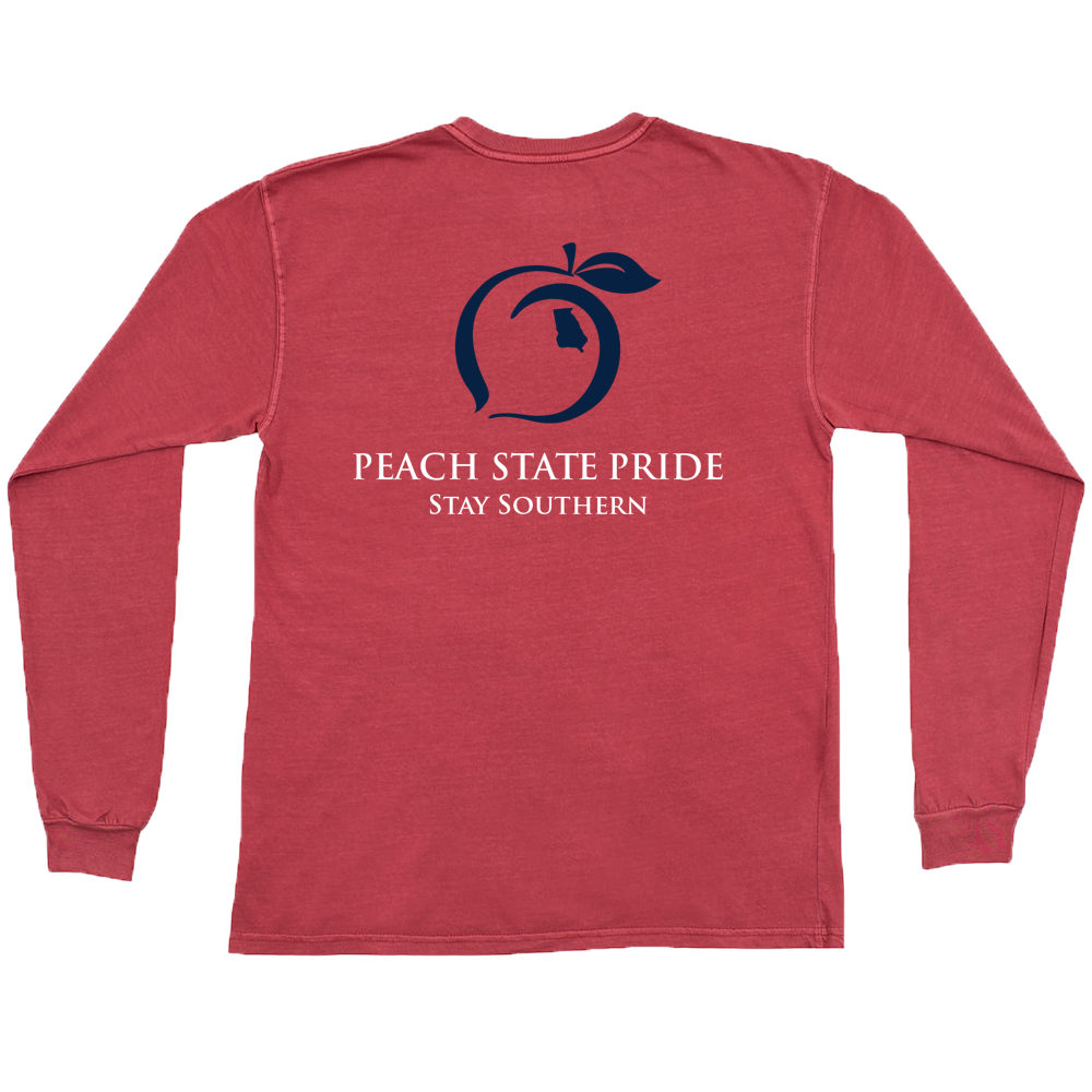 Peach State Pride Youth 'Classic Stay Southern' Long Sleeve - Crimson