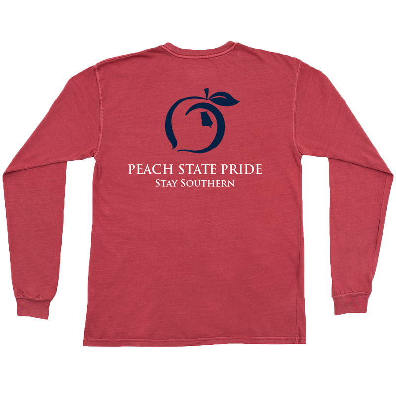 Peach State Pride Youth Classic Stay Southern Crimson T Shirt
