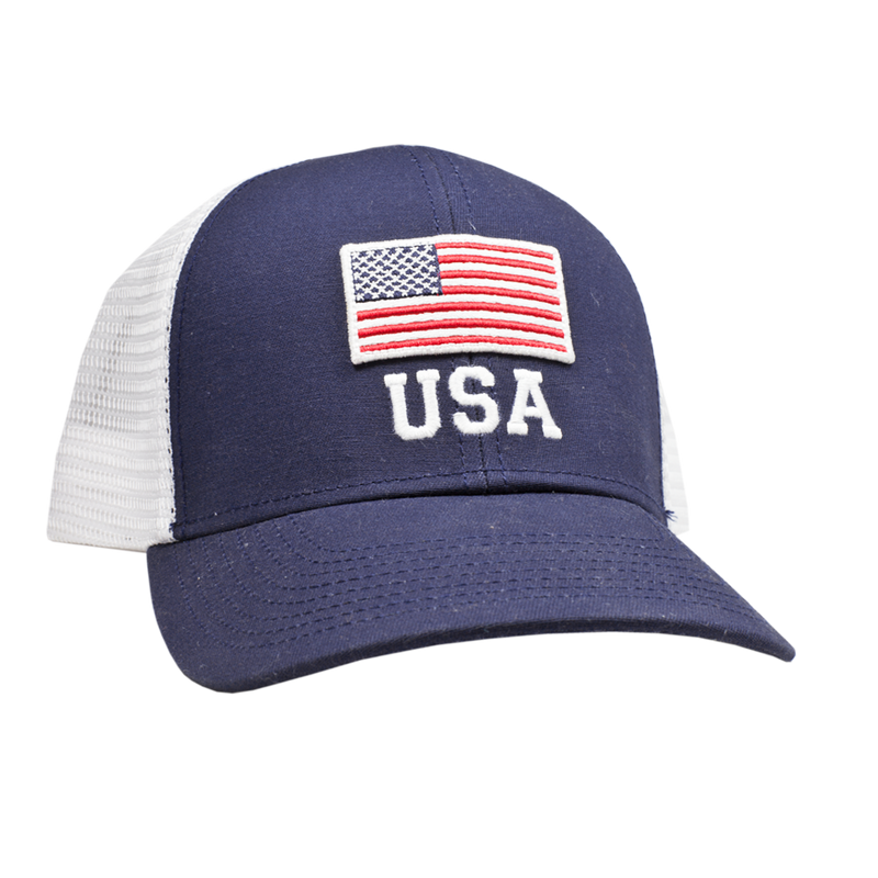 Peach State Pride 'USA Flag' Trucker Hat - Navy