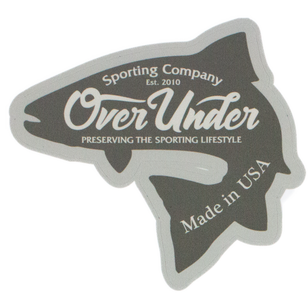 Over Under 'Brook Trout' Sticker
