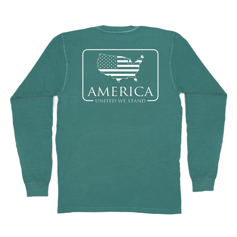 Peach State Pride 'American Patch' Long Sleeve - Emerald
