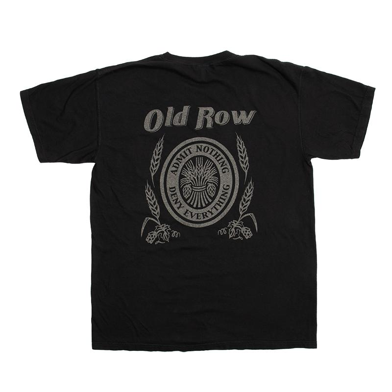 old row retro can black short sleeve t shirt