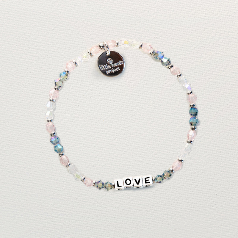 Little Words Project 'Love'  Bracelet - Crystal Silver Collection With Silver Letters