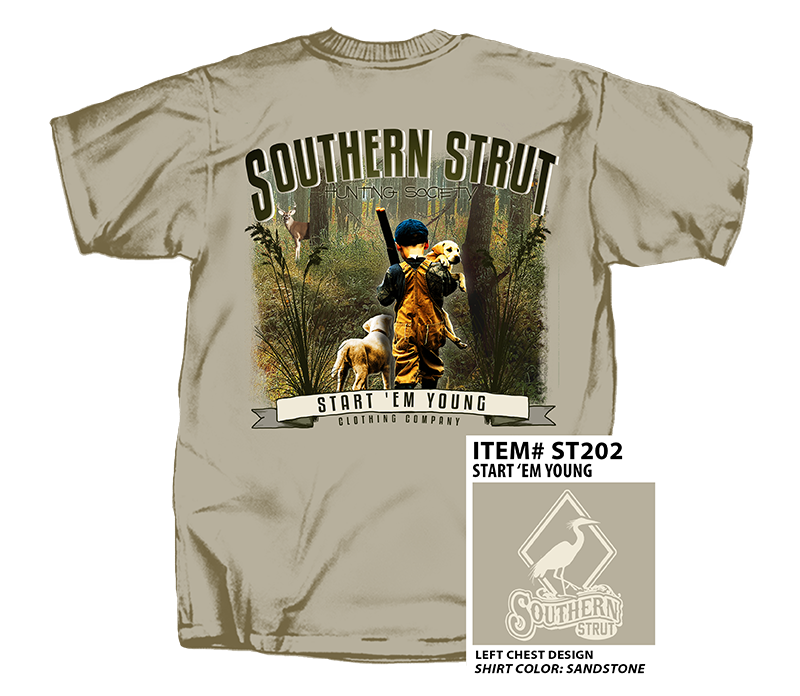 Southern Strut 'Start Em Young' Short Sleeve - Sandstone