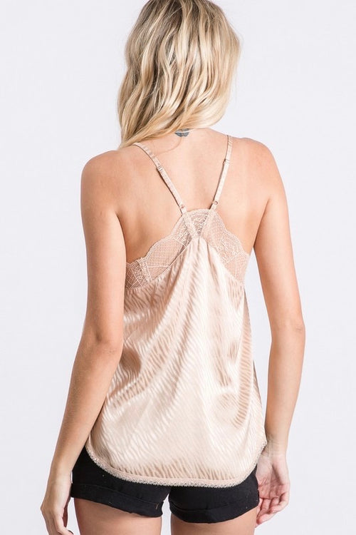 Layered Love Taupe Cami Top