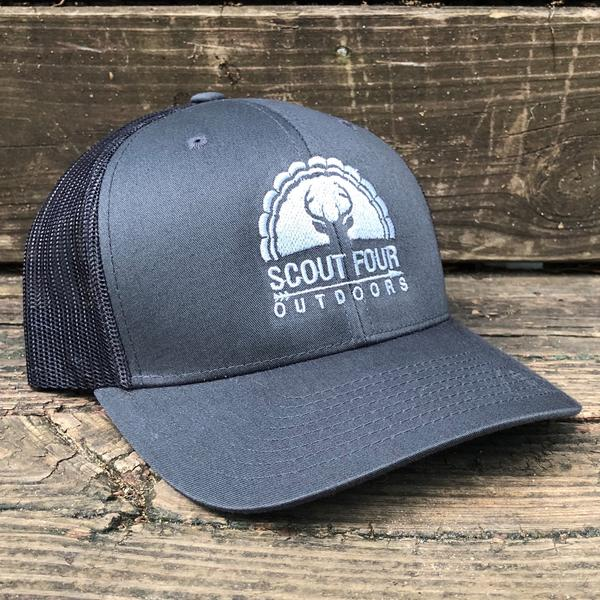 Peach State Pride 'Georgia Patch' Trucker Hat- Lake Blue/White