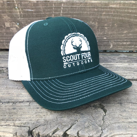 Peach State Pride 'Georgia Patch' Trucker Hat- Grey/Mint
