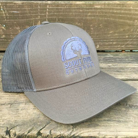 Deep Southern Pride 'Trucker Hat' - Light Teal/Grey