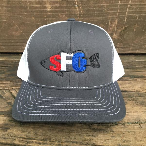 Scout Four Outdoors 'Bass' Trucker Hat - Charcoal/American