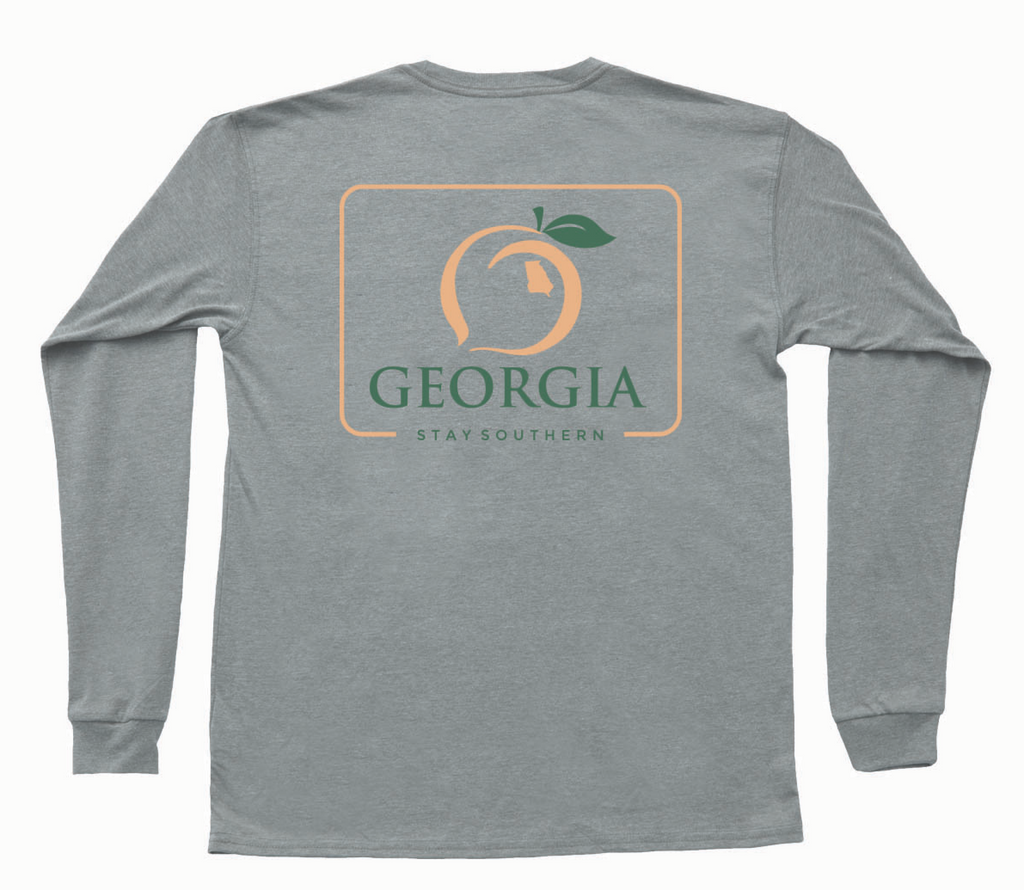 peach state pride georgia patch  tshirt